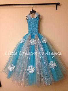 Vestido inspirado en Reina Elsa talla por LittledreamsbyMayra