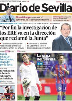Los Titulares y Portadas de Noticias Destacadas Españolas del 31 de Marzo de 2013 del Diario de Sevilla ¿Que le parecio esta Portada de este Diario Español?