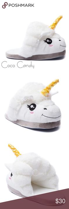 ⭐️SALE‼️Unicorn Slippers Unicorn Slippers✨  Size: 7.5 (Small/Medium)✨  Color: White & Pink✨  New Without Tags✨  Stay warm in these super soft & plush unicorn slippers. Perfect for lounging. Very cute & comfortable. Great for those cold fall & winter nights. Will fit a size small & medium. Treat yourself!✨  Buy now or submit a offer today✨  ⭐No Trades ⭐No Modeling ⭐️Use The Offer Button ⭐️15% Off 2 Or More Items ⭐️Free Gift With Every Order ⭐️Same Day / Next Day Shipping Shoes Slippers