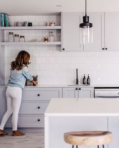 Having created a green kitchen in their latest whole home reno, Lana Taylor of Three Birds Renovations reveals her tips for embracing bright hues in Home Decor Kitchen, Kitchen Interior, New Kitchen, Home Kitchens, Kitchen Dining, 10x10 Kitchen, Rustic Kitchen, Three Birds Renovations, Kitchen Tiles