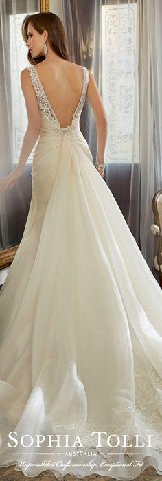 The Sophia Tolli Spring 2015 Wedding Dress Collection - Style No. Y11559 Jacana www.sophiatolli.com #weddingdresses
