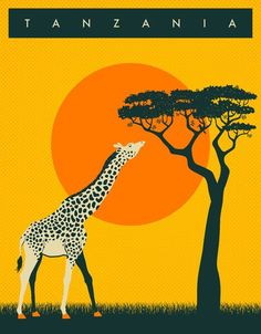 Incredible Travel Products You Didn't Know You Needed Vintage Travel Poster - Tanzania - Africa.