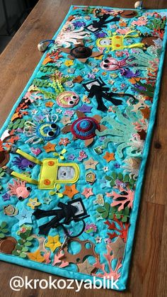 Sensory Wall, Baby Sensory, Infant Sensory Activities, Navy Nursery, Activity Mat, Ocean Crafts, Toddler Development, Ocean Creatures, Baby Feet