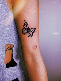 Super qute detailed butterfly and heart tattoo by Ink_by_g 12 Tattoos, Boho Tattoos, Dainty Tattoos, Dream Tattoos, Badass Tattoos, Pretty Tattoos, Mini Tattoos, Cute Tattoos, Body Art Tattoos