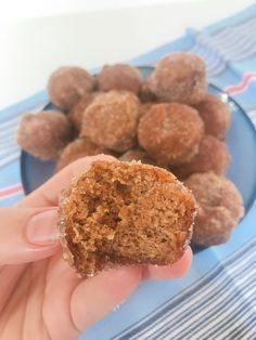 a medium sauce and mix the granulated monk fruit sweetener in a medium bowl.  As soon as the mini muffins are cool enough to handle toss each one in the butter and then in the monk fruit sweetener mixture Almond Flour Recipes, Almond Flour Muffins, Pumpkin Spice Muffins, Mini Muffins, Pumpkin Pancakes, Keto Sweet Snacks, Keto Snacks, Snack Recipes, Breakfast Recipes