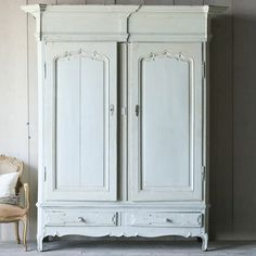 Eloquence One of a Kind Antique Armoire Flemish Pale Seafoam @LaylaGrayce