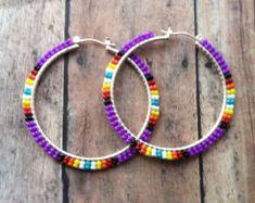 Ear Jewelry, Seed Bead Jewelry, Seed Bead Earrings, Jewelry Crafts, Beaded Jewelry, Handmade Jewelry, Jewelry Making, Beaded Earrings Native, Beaded Earrings Patterns