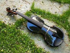 my black electric violin, 5 strings made by Luthier C Kober