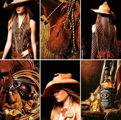 Wild Wild West by Donna Karan. S/S 2014.  #fashion #west #style
