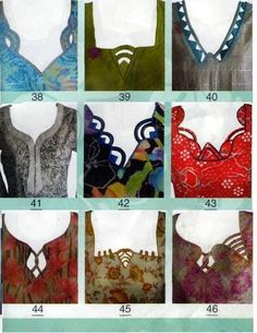 Churidars neck patterns design