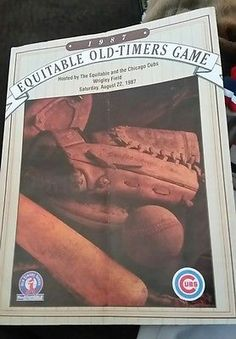 Chicago Cubs Wrigley Field 1987 Old Timers Game Program Ron Santo Autograph