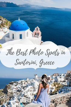 Heading to Santorini, Greece and you want to hit up all the best photo spots? Well look no further b Santorini Honeymoon, Santorini Travel, Oia Santorini, Santorini Greece Hotels, Greece Honeymoon, Mykonos Greece, Best Island Vacation, Greece Vacation, Greece Travel