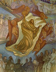 """The painting: #BlessedVirginMary #Assumption. It was made by #BeppeSteffanina on the years 1953 - 1970. It is situated in the American Chapel of the #SanctuaryofLoreto  ❤  Il dipinto: """"Assunzione della Beata Vergine Maria"""", realizzato da Beppe Steffanina negli anni 1953-1970, si trova nella """"Cappella Americana"""" del #Santuariodiloreto. #Loreto #marchespiritualroute"""