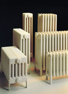 View our traditional cast iron radiators, steel and aluminium column designs in Victorian, Edwardian and classic styles. Home Radiators, Column Radiators, Cast Iron Radiators, Cottage In The Woods, Wood Cottage, Hydronic Heating, Column Design, Radiator Cover, Heating Systems