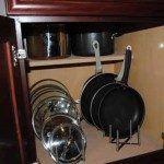 Pot lid storage storage rack for pot lids pan lid storage kitchen cabinet pan lid storage . Pot Lid Storage, Pot Lid Organization, Lid Organizer, Kitchen Drawer Organization, Kitchen Drawers, Kitchen Storage, Storage Rack, Organizers, Storage Ideas