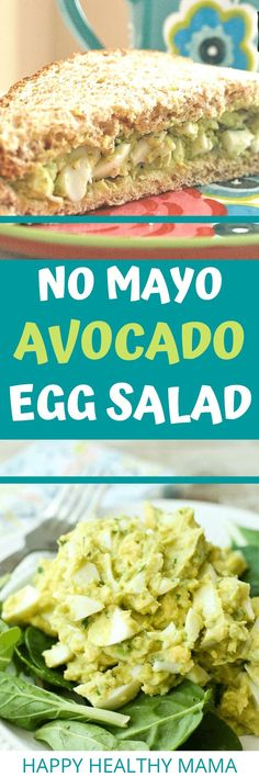 This Avocado Egg Salad is SO GOOD! No mayo but still creamy and delicious thanks to healthy avocado! LOVE. Healthy Cookie Recipes, Peanut Butter Recipes, Healthy Salad Recipes, Drink Recipes, Healthy Food, Vegan Recipes, Healthy Eating, Yummy Food, Clean Dinner Recipes