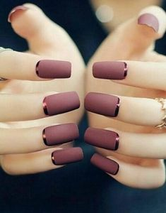 Elegant Fashion Matte 3 Colors False Nail Acrylic Full Nail Tips Nail Art Decorating Tools Artificial Nail with Design Classy Nail Art, Cute Nail Art, Black Nail Designs, Nail Art Designs, Nails Design, Matte Nails, Acrylic Nails, Nagel Hacks, Artificial Nails