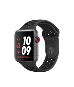 Shop Apple Watch Nike+ Space Gray Aluminum Case with dark-gray/black Nike Sport Band in 38mm and 42mm. Available with cellular. Buy now with free shipping.