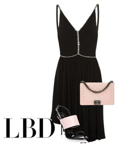 """""""Black pink"""" by chateaubeau ❤ liked on Polyvore featuring Yves Saint Laurent, Giuseppe Zanotti and Chanel"""