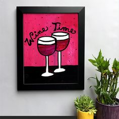 Wine Time Red Wine Art Print for Kitchen Gift for by claudine Wine Art, Wine Time, Art Decor, Home Decor, Red Wine, Clock, Colorful, Art Prints, Unique Jewelry