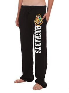 Harry Potter Hogwarts Guys Pajama Pants, BLACK