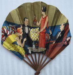 Old Fashioned Clothes : Marie Brizard advertising fan, French Marie Brizard advertising fan, French Antique Fans, Vintage Fans, Hand Held Fan, Hand Fans, Art Nouveau, Art Deco, Chinese Fans, Vintage Mannequin, Paper Fans