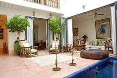 courtyard in Riad Le J - Mouassine - Marrakech