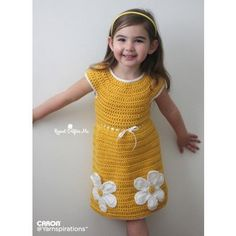 Crochet Daisy Dress Free Crochet Pattern from Repeat Crafter Me for Yarnspirations