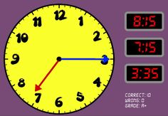 która godzina? Telling Time Games, Gra, Elapsed Time, Clock, Digital, Reading, Watch, Clocks, Reading Books