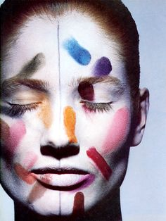 """Space-Age Beauty"" by Sheila Metzner and Irving Penn for Vogue October 1984 Irving Penn, Eye Makeup, Makeup Art, Beauty Makeup, Fairy Makeup, Mermaid Makeup, Image Mode, Soul Art, Fantasy Makeup"