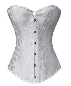 42c9d76d896 Colyanda Women s Brocade Boned Overbust Corset Waist Training Body Shaper