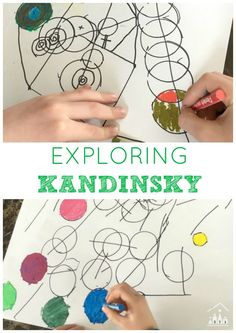A fun art project for kids to explore the famous artist Kandinsky based on his Lines and Circles work. A great activity for siblings to do together.