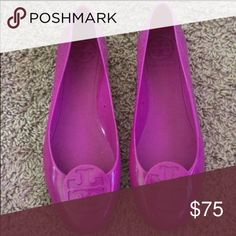 1838a216085b1 Tory Burch jelly flats Size 7. Fuchsia Magenta in color. jelly plastic