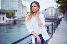 Staying on time Kristina Bazan, Blazer Fashion, Street Style, Style Inspiration, My Style, Tops, Women, Seasons, Photos
