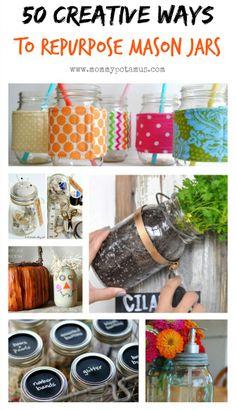 50 Creative Ways To Use Mason Jars #masonjardiy #masonjarideas #masonjarcrafts