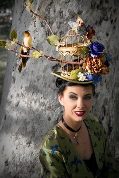 Hey, I found this really awesome Etsy listing at https://www.etsy.com/listing/234361505/womens-victorian-birdcage-tophat-the