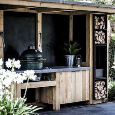 Bbq Kitchen, Outdoor Kitchen Bars, Outdoor Kitchen Design, Garden Bar, Home And Garden, Outdoor Fire, Outdoor Decor, Backyard Beach, Diy Grill