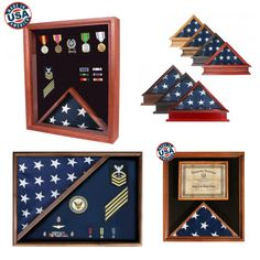 Shop for American-made flag and medal display cases in a variety of sizes and finishes. American Made, American Flag, Medal Display Case, Military Flags, Military Shadow Box, Flag Store, Flags For Sale, Document Holder, Countries