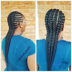 All styles of box braids to sublimate her hair afro On long box braids, everything is allowed! For fans of all kinds of buns, Afro braids in XXL bun bun work as well as the low glamorous bun Zoe Kravitz. Box Braids Hairstyles, Protective Hairstyles, Protective Styles, Hairstyles 2018, Ethnic Hairstyles, Hairstyles Games, Braided Mohawk Hairstyles, Wedding Hairstyles, Braided Hairstyles For Black Women