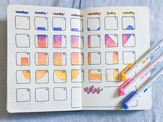 🌸🌺 this month's spread took HOURS but I've been loving exploring with the colorful summer theme. Hope yall enjoy it :)) . Bullet Journal Notes, Bullet Journal Aesthetic, Bullet Journal 2019, Bullet Journal Junkies, Bullet Journal Spread, Bullet Journal Layout, Bullet Journal Inspiration, Journal Pages, Journal Ideas