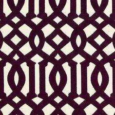 Imperial Trellis Velvet | 65592 in Byzantine | Schumacher Fabric |  An iconic Schumacher design, Imperial Trellis epitomizes Hollywood Regency glamour. Available as a printed linen, cut velvet, sheer or wallcovering.