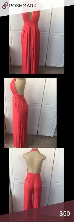 Caribbean Queen ramper pants Caribbean Queen ramper pants super cute and fresh and comfortable just need dry cleaning has pockets on the side caribbean Queen Pants Jumpsuits & Rompers