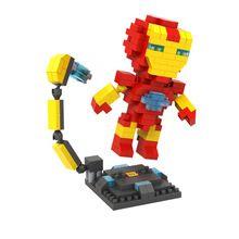 LOZ 9447 Avenger Super Heroes Homem De Ferro Minifigures Bloco de Construção Educacional Tijolos De Diamante Melhor Legoelieds Brinquedos //Price: $US $5.50 & FREE Shipping //    #capitainamerica #capitãoamerica #marvel #avenger