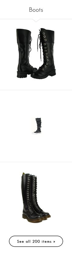 """""""Boots"""" by just-call-me-chuck ❤ liked on Polyvore featuring shoes, boots, ankle booties, ankle boots, military boots, lace up booties, faux leather boots, combat boots, converse boots and converse knee high boots"""
