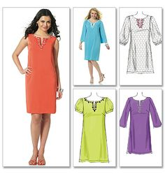 Butterick M6117 - love the sleeveless version.