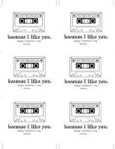 scrappybetties: Mixtape Valentine Printable for You