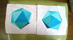 Icosahedron Quilt.  Sunshine Fuzzy Bunny.