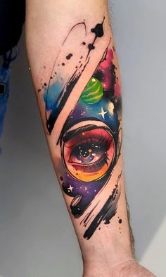 If a watercolor tattoo is the one you would like to choose for yourself, then we.If a watercolor tattoo is the one you would like to choose for yourself, then we are happy you've made it to this article. Different ideas and designs for differe Finger Tattoos, Body Art Tattoos, Sleeve Tattoos, Tattoos Masculinas, Tatoos, Rauch Tattoo, Astronaut Tattoo, Unusual Tattoo, Aquarell Tattoos
