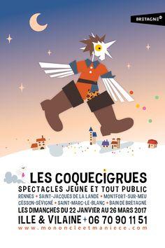 Les Coquecigrues - spectacles jeunes et tout public - janvier à mars 2017