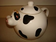 Ceramic Cow Tea Pot for Gift or Collections